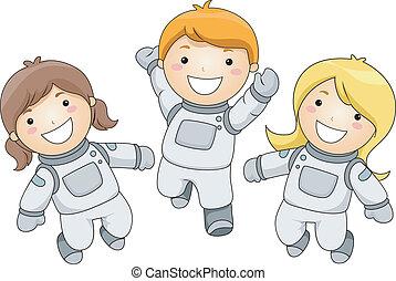 Illustration of Kid Astronauts