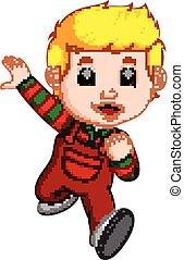 Kid running cartoon