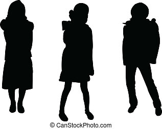 kids fashion silhouette collection