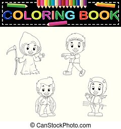 kids halloween coloring book