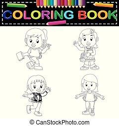 kids school coloring book