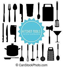 Illustration of kitchen tools, editable vector