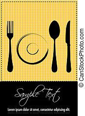 kitchenware - illustration of kitchenware on textured...