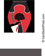illustration of knife stabbing a brain