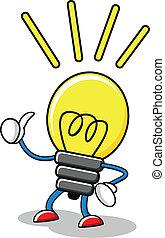 illustration of lamp