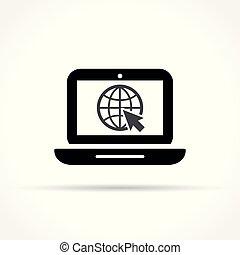 laptop icon on white background