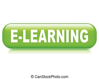 learning button on white background