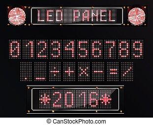 LED digital figure