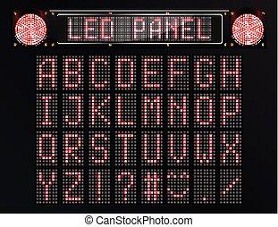 LED digital font