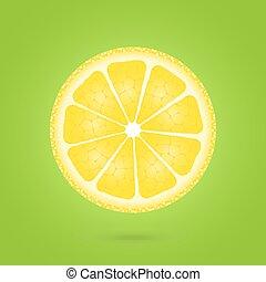 Lemon icon on a green