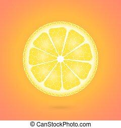 Lemon icon on a orange