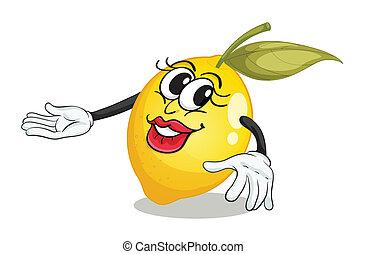 lemon - illustration of lemon on a white background