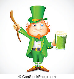 Leprechaun wishing Saint Patrick's day