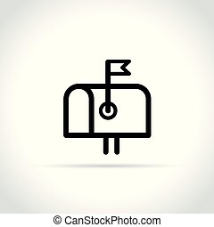 letter box icon on white background
