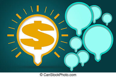Illustration of light bulb with a dollar sign