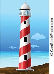 illustration of light house