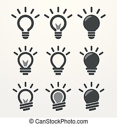 Light lamp sign icon on white background