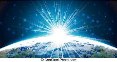 Light of planet earth