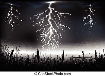 Lightning Storm Clip Art Vector And Illustration 7784