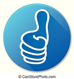 like blue circle icon design