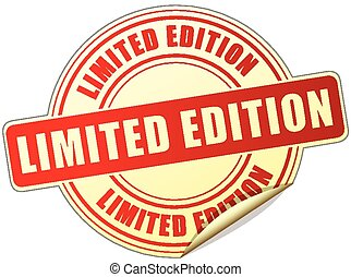 limited edition label - illustration of limited edition...