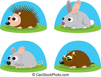little animals - Illustration of little animals