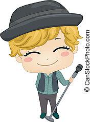 Little Boy Pop Star
