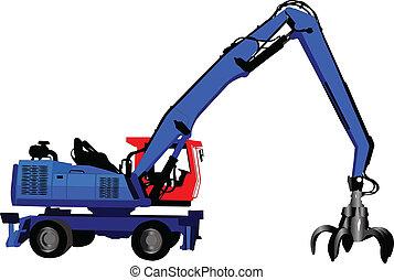 Illustration of loader - vector
