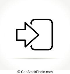login icon on white background