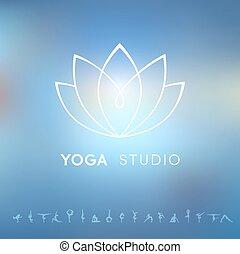Logo for a yoga studio