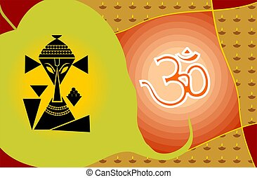Lord Ganesha and Om