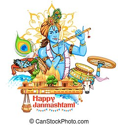 Lord Krishana in Happy Janmashtami