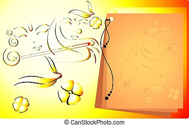Lord Krishna  - Illustration of Lord Krishna decorated