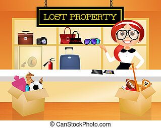 lost property - illustration of lost property
