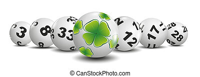 lottery - illustration of lottery balls and ball with...