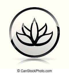 lotus flower icon on white background