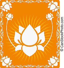 Lotus flowers - Illustration of Lotus flowers in radiant and...