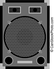 loud speaker - Illustration of loud speaker isolated on...