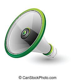 loud speaker - illustration of loud speaker on white...