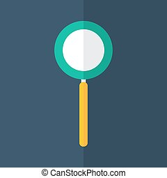 Loupe icon on a blue