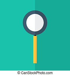 Loupe icon over green