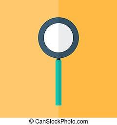 Loupe icon over orange
