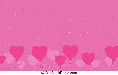 Illustration of love for valentine day