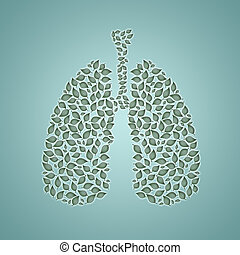 lungs with leaves