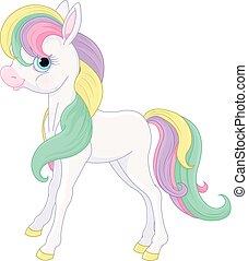 Rainbow Pony standing