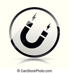 magnetism icon on white background - Illustration of...