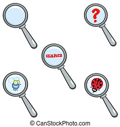 Illustration Of Magnifying Glass. Collection