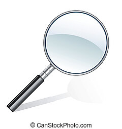 magnifying glass icon - Illustration of magnifying glass...