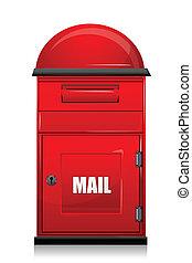 mail box - illustration of mail box on white background