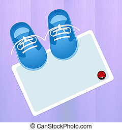male baby shoes - illustration of male baby shoes